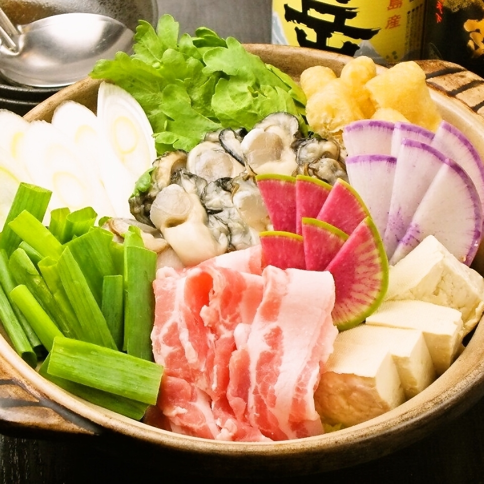 Oyster-filled Chanko nabe