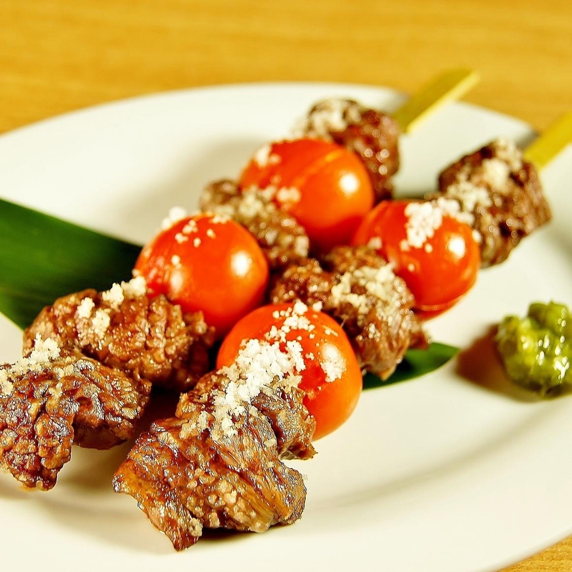 仙台日本牛肉和番茄串(2串)