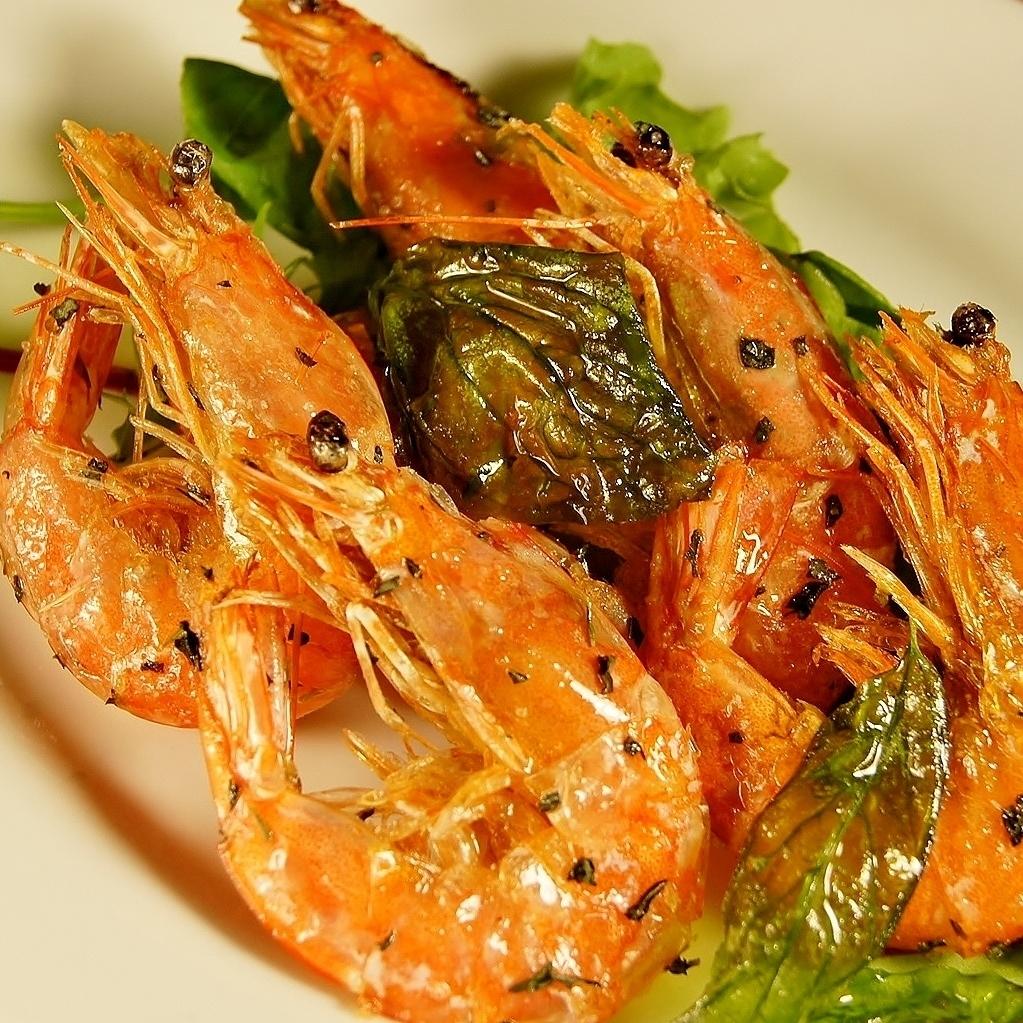 香草炒软壳虾