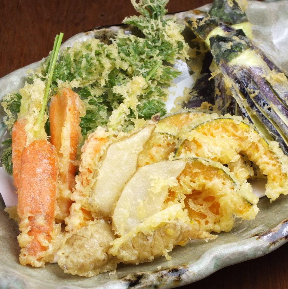 朝採れ有機野菜天ぷら
