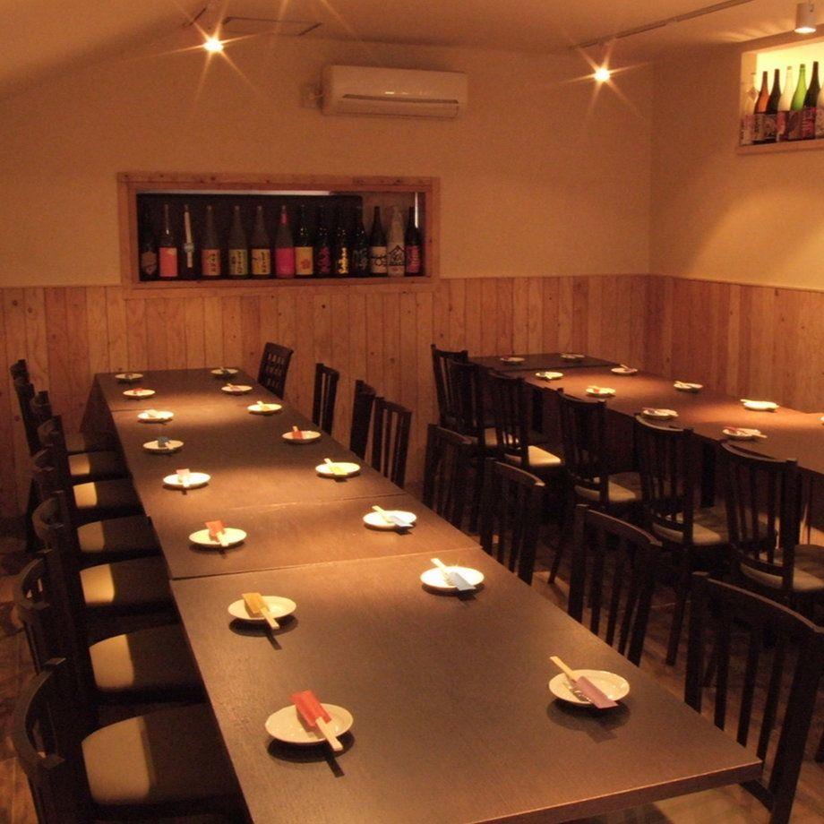 2階テーブル席は最大45名様まで貸切可能!うち個室は14名様まで!ご予算に合わせてコースなどご相談ください。