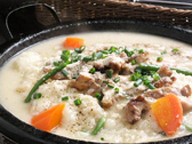 石烤鸡肉炒香芝士奶油烩饭