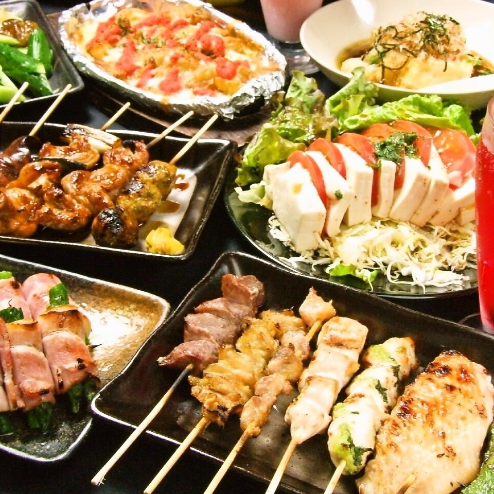 充実の【焼鳥】食べ放題&飲み放題★3300円