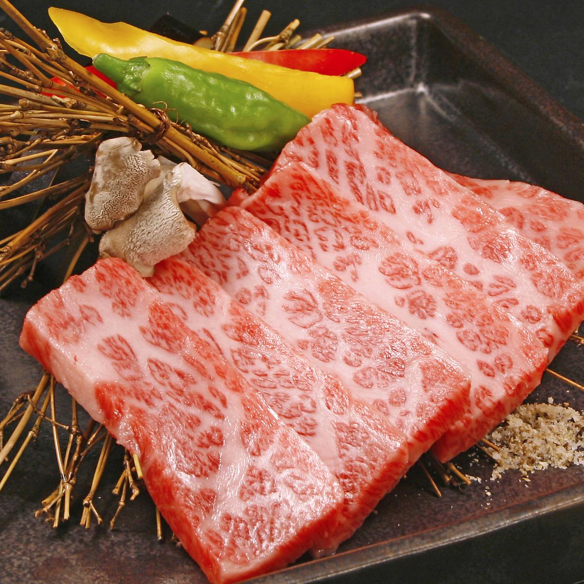 道産A5黒毛和牛をはじめ、豊富な焼肉も