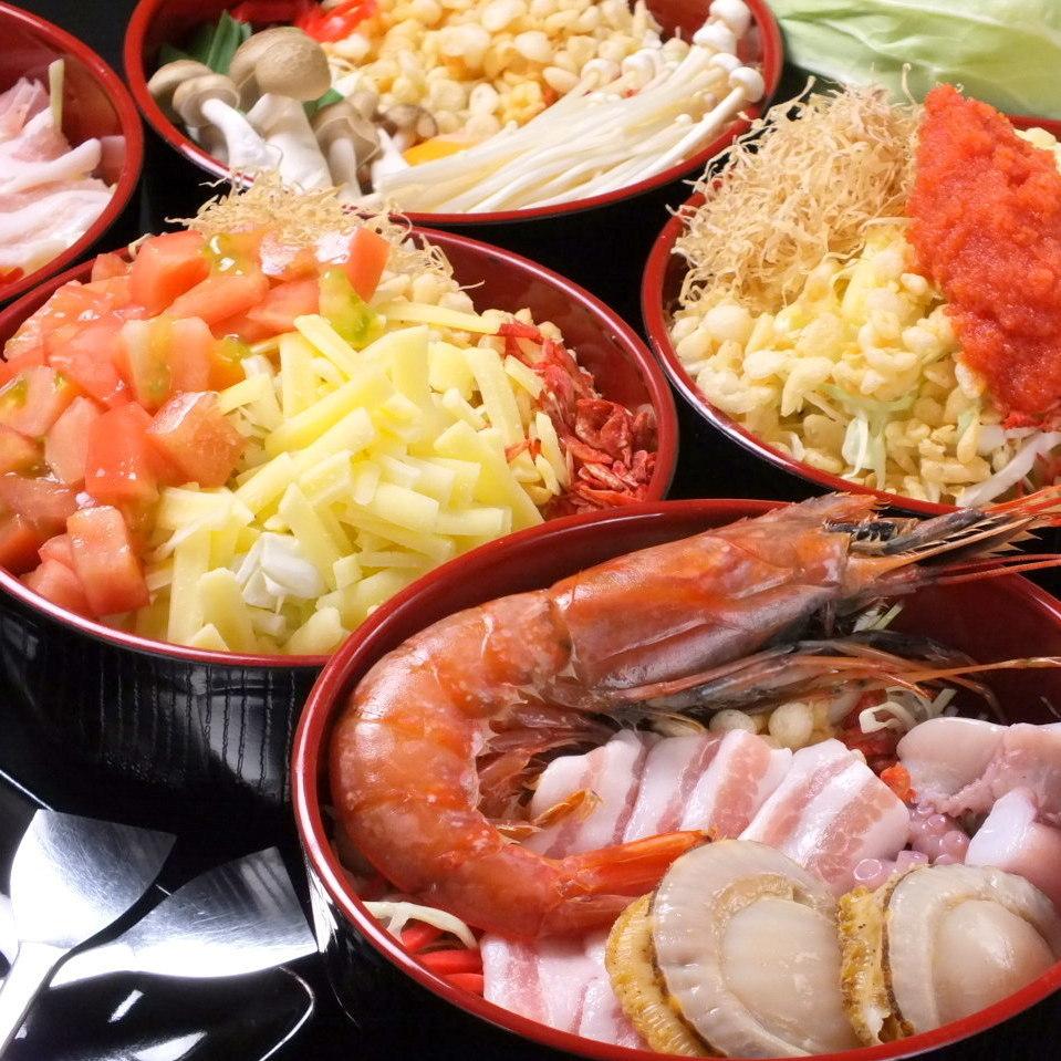 [2小时]御好烧,Monja所有45种的全友可以吃所有你可以喝2500日元(含税)