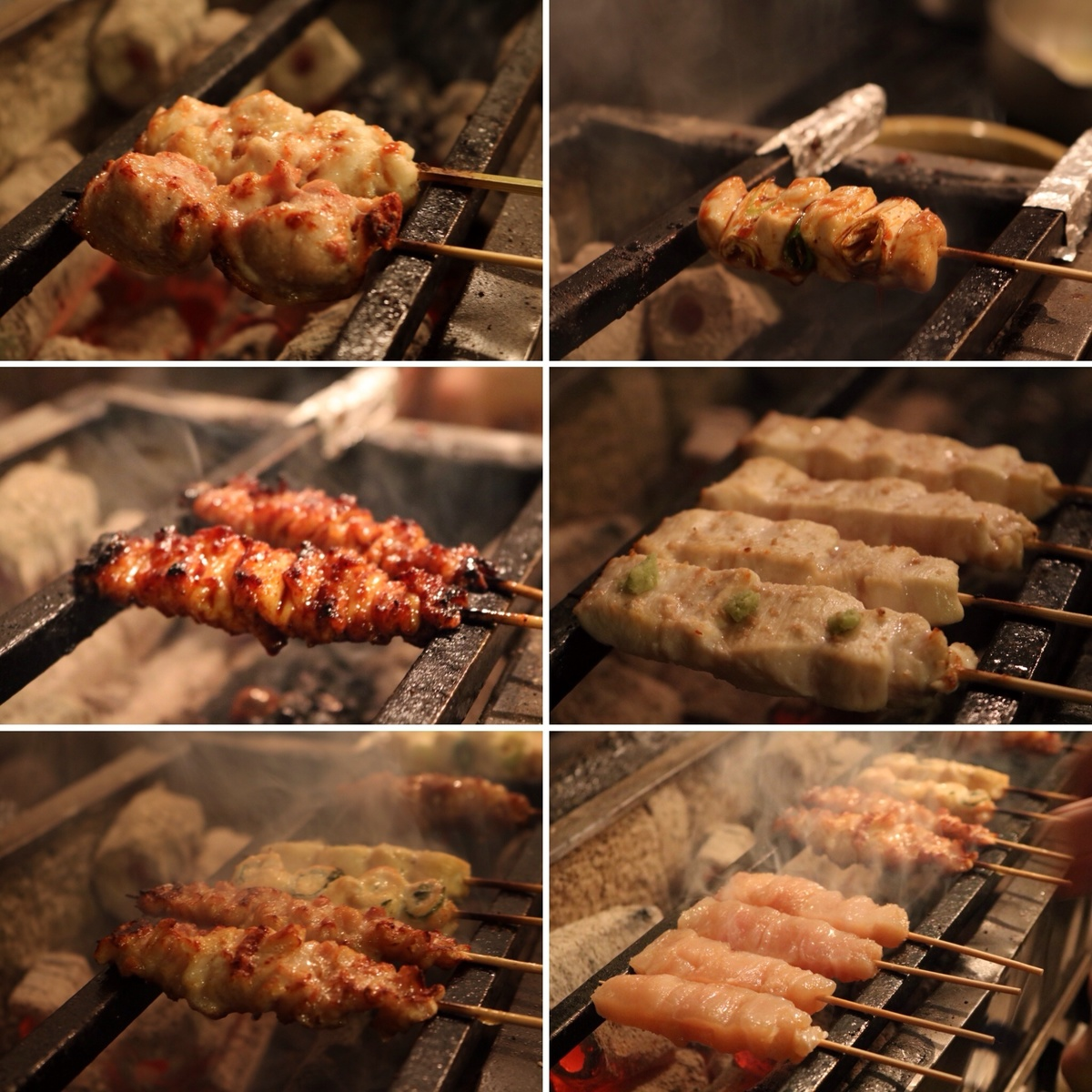 """Handling himself a young chicken carefully selected morning deadline, typing with all your soul """"yakitori""""."""