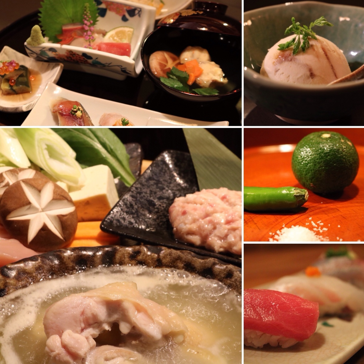 [Kaiseki plan] aging fish and cooked in water courses