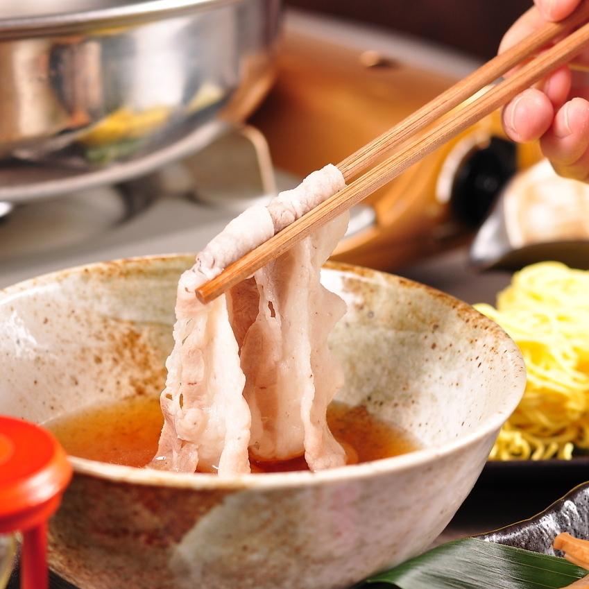 120分[飲放]付旭川産いも豚使用、つゆしゃぶコース7品4000円⇒クーポン利用で生込&活帆立進呈