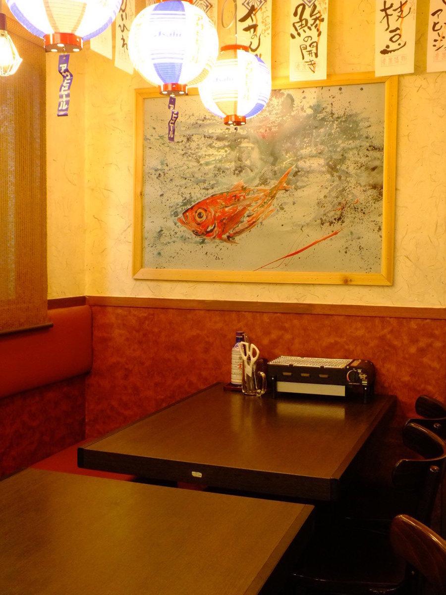 少人数のお客様は1階のテーブル席がおススメ!大衆居酒屋ならではの雰囲気を楽しめます!お客様同士が仲良くなることも♪
