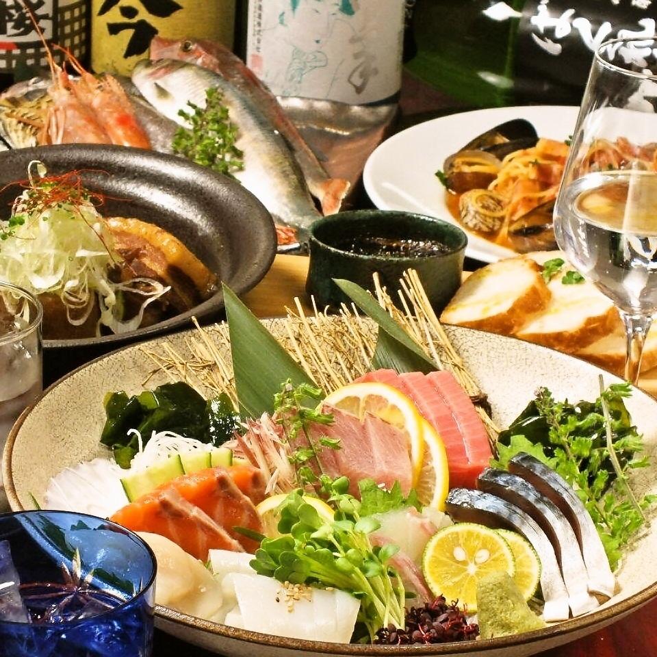 """◆""""登""""當然,所有的8道菜2.5小時所有你可以用4500日元喝◆店老闆推薦的菜2"""
