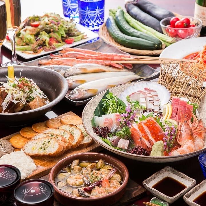 """◆""""呑""""当然,所有的7道菜2.5小时所有你可以用4000日元喝◆白味噌与国内〜〜莫图的锅"""