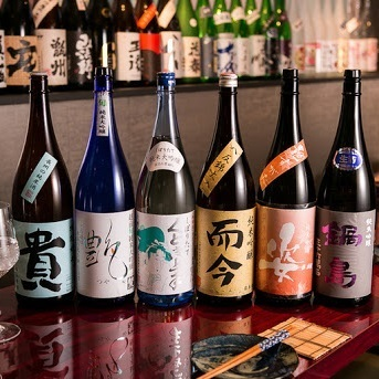 Enjoy sake around the country ♪ All-you-can-drink for one hour ⇒ 1200 yen (excluding tax)