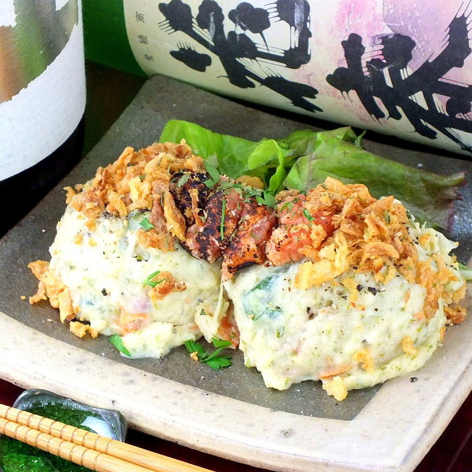 自制土豆沙拉 - 烤鳕鱼子放在〜