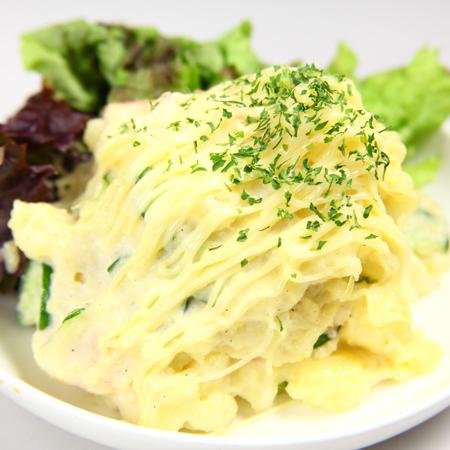 温泉卵/おくら梅肉/山芋わさび漬け/こりこり/自家製ポテトサラダ/
