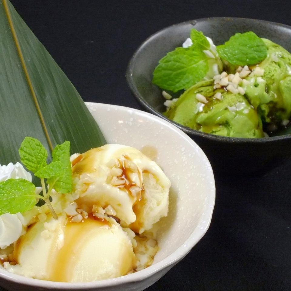白色屠夫冰淇淋(香草,綠茶)