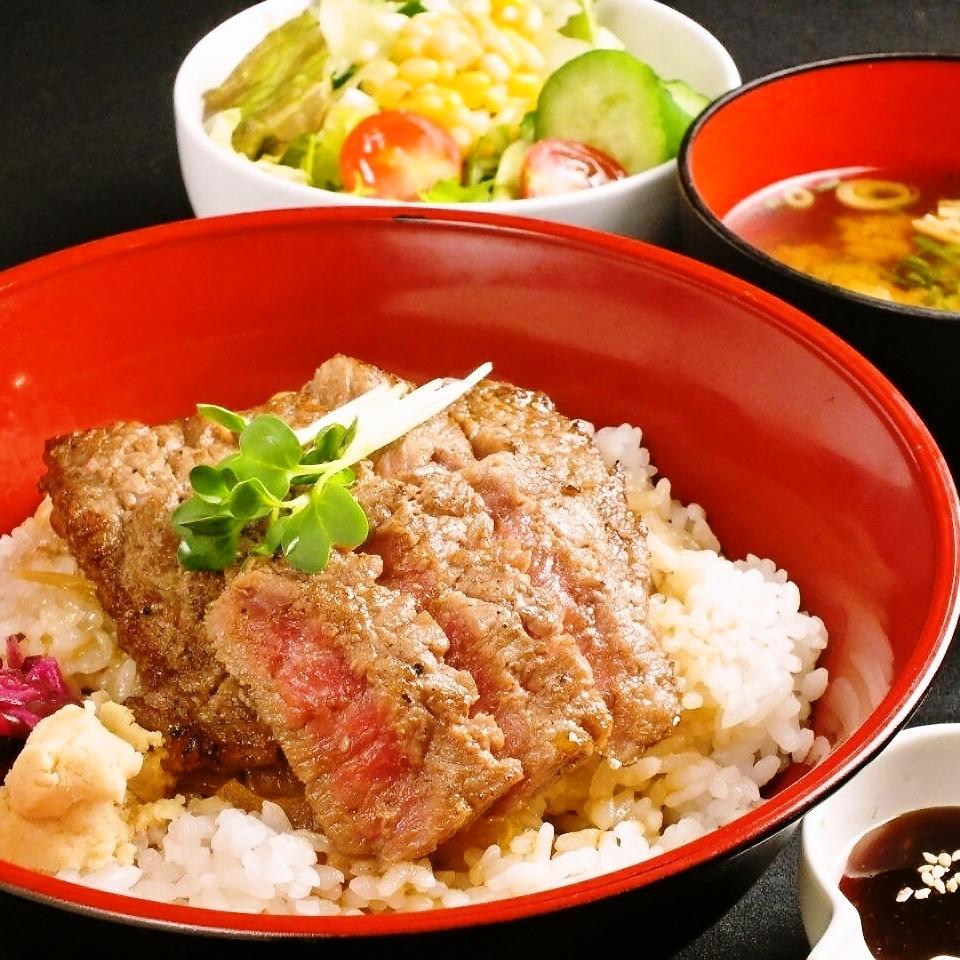 牛排碗可以白屠夫特色!矩陣!平均,大盛,有TokuSakari♪※午餐有限