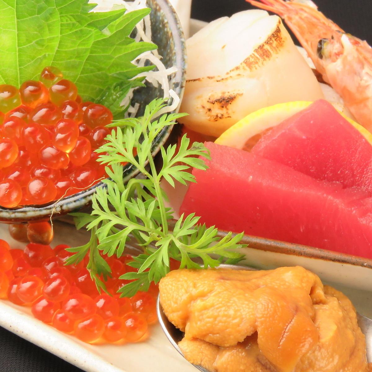 新鮮鮮魚の盛り合わせ(お刺身・カルパッチョ コース利用でいずれかお選び頂けます)