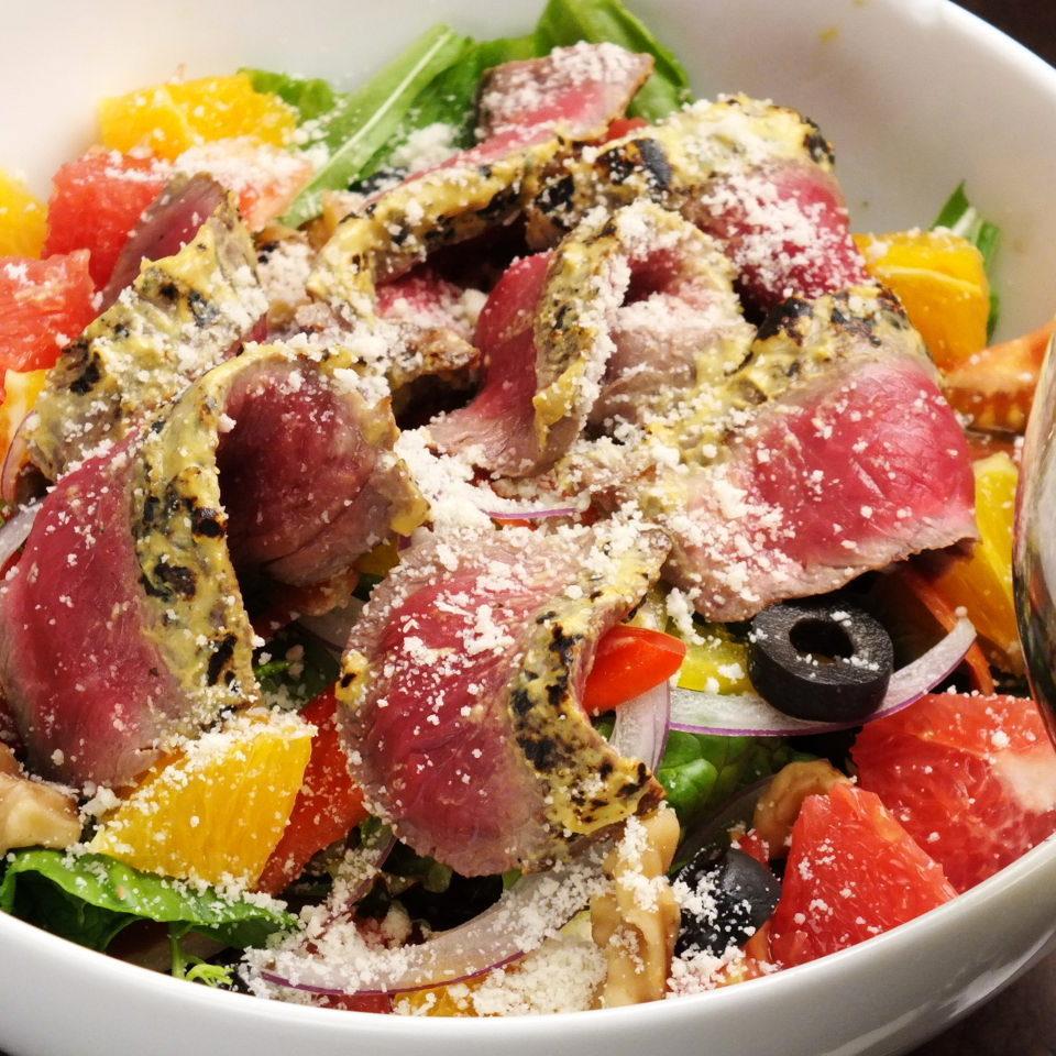 Sun&Moon牛肉のタリアータサラダ ベジダブルドレッシング