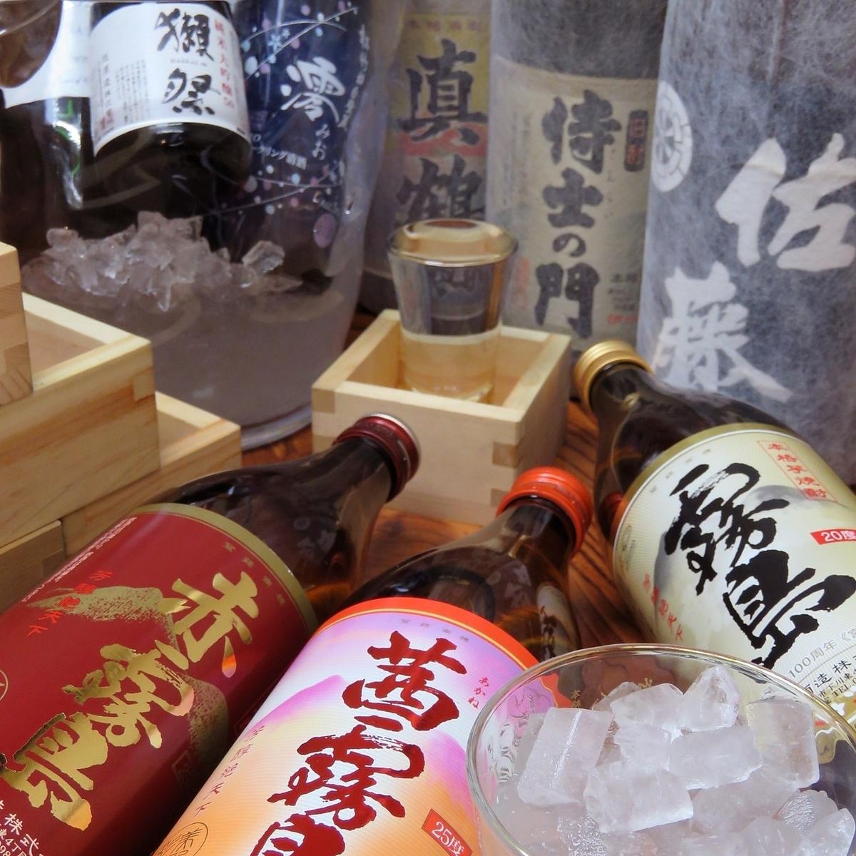日本酒やプレミアム焼酎など豊富に取り揃えております!!