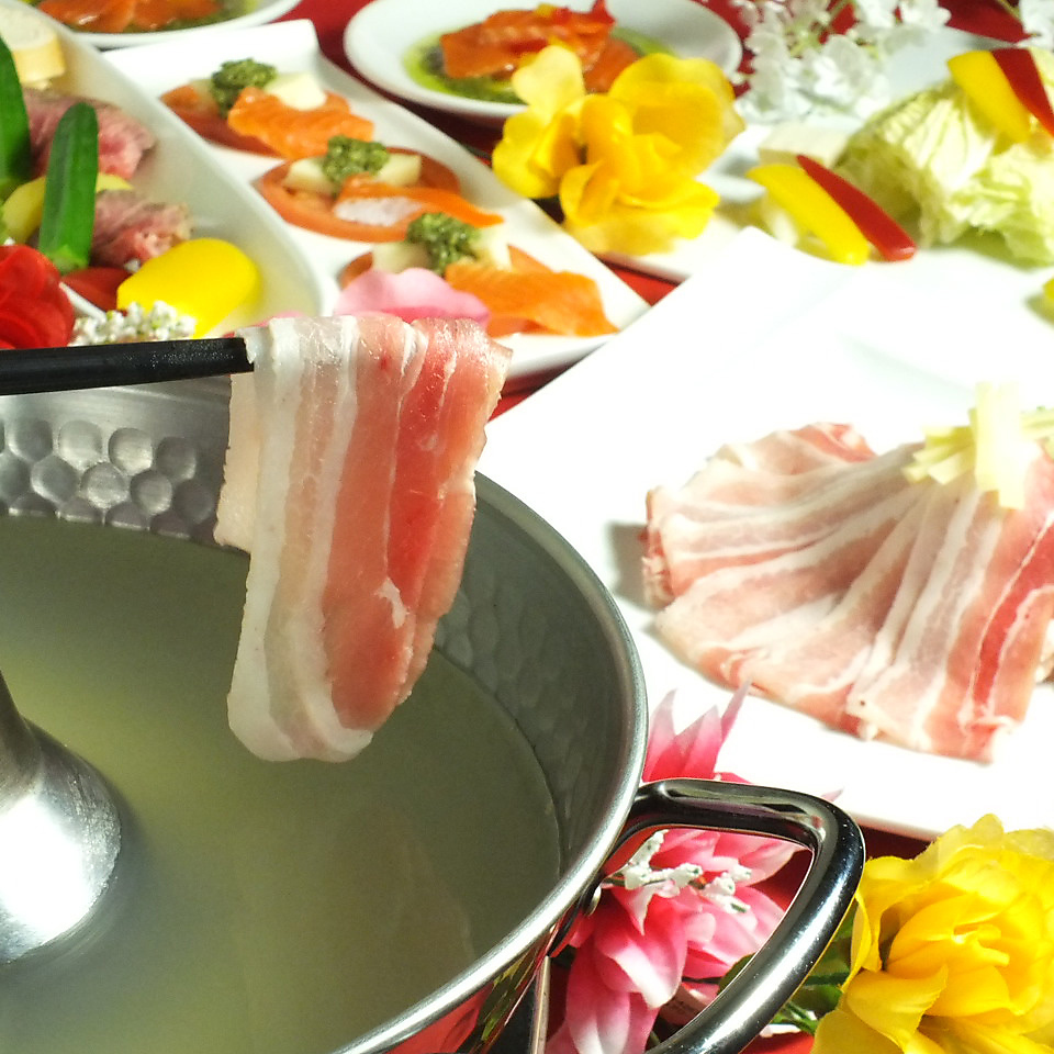 リニューアル記念♪しゃぶしゃぶ&サイドメニュー食べ飲み放題120分1980円→1480円