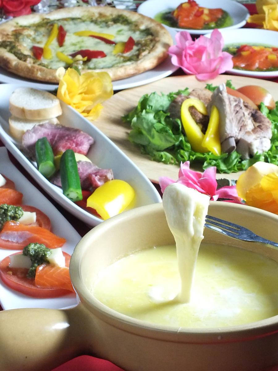 チーズフォンデュ付きフード70品食べ飲み放題120分1980円→1780円♪