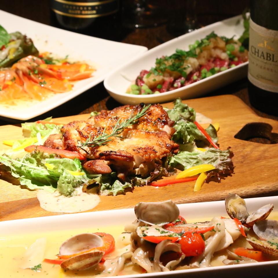 ガッツリ肉を楽しめる宴会コースは5000円からです♪単品でも注文可能です!