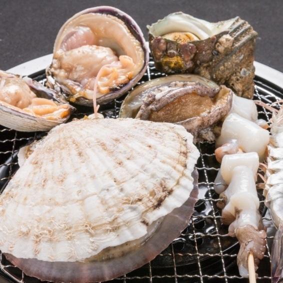 【浜焼き310円(税抜)~】明石蛸、蟹の甲羅焼、凛のハラミ、漁師風じゃがバターなど