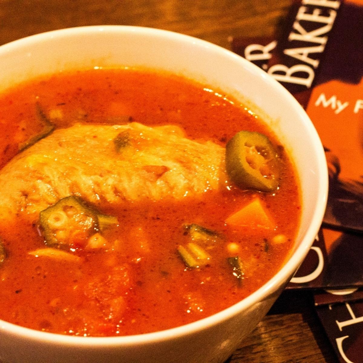 チキンガンボスープ
