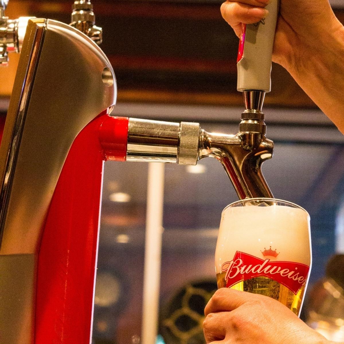 当店の「生ビール」は2種類☆バドワイザー&ハートランド♪