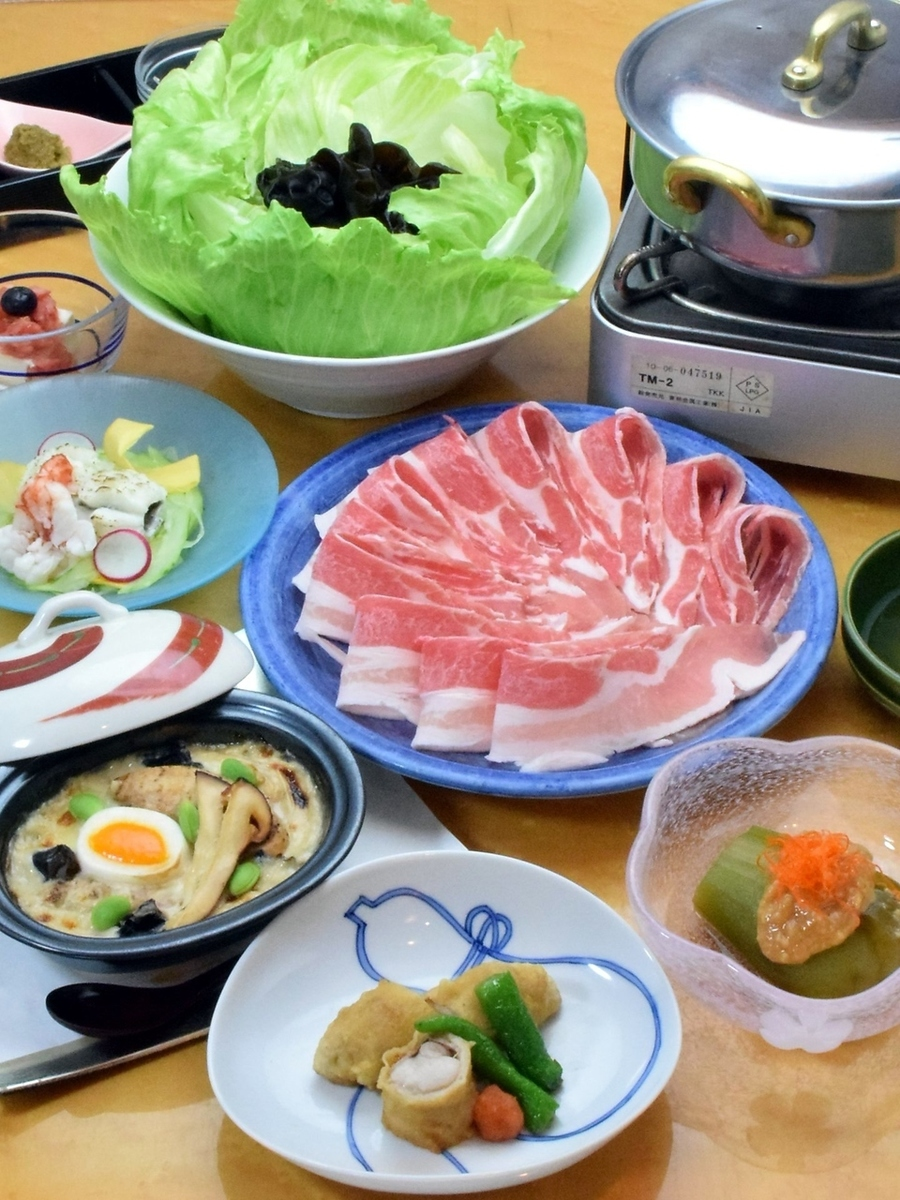 150 minutes with all you can drink 【Black pig shabu course】 (tax included)