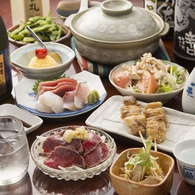 【送迎会オススメ】鳥鍋コース(料理8品+2H飲み放題付き)