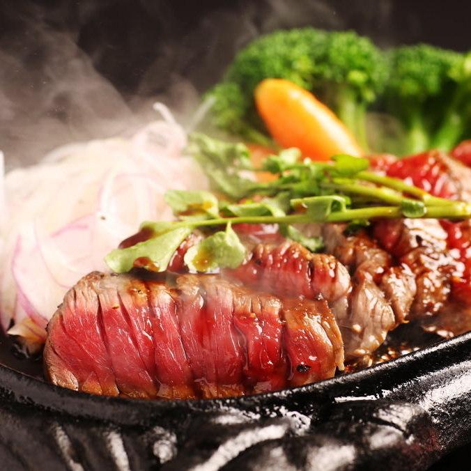 牛ハラミの鉄板ステーキ