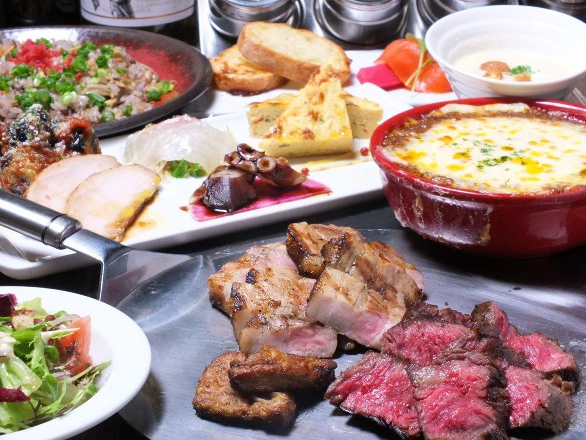 〜牢固食肉!!阵容14种菜肴至120分钟固体[饮用释放]与★5000日元(含税)