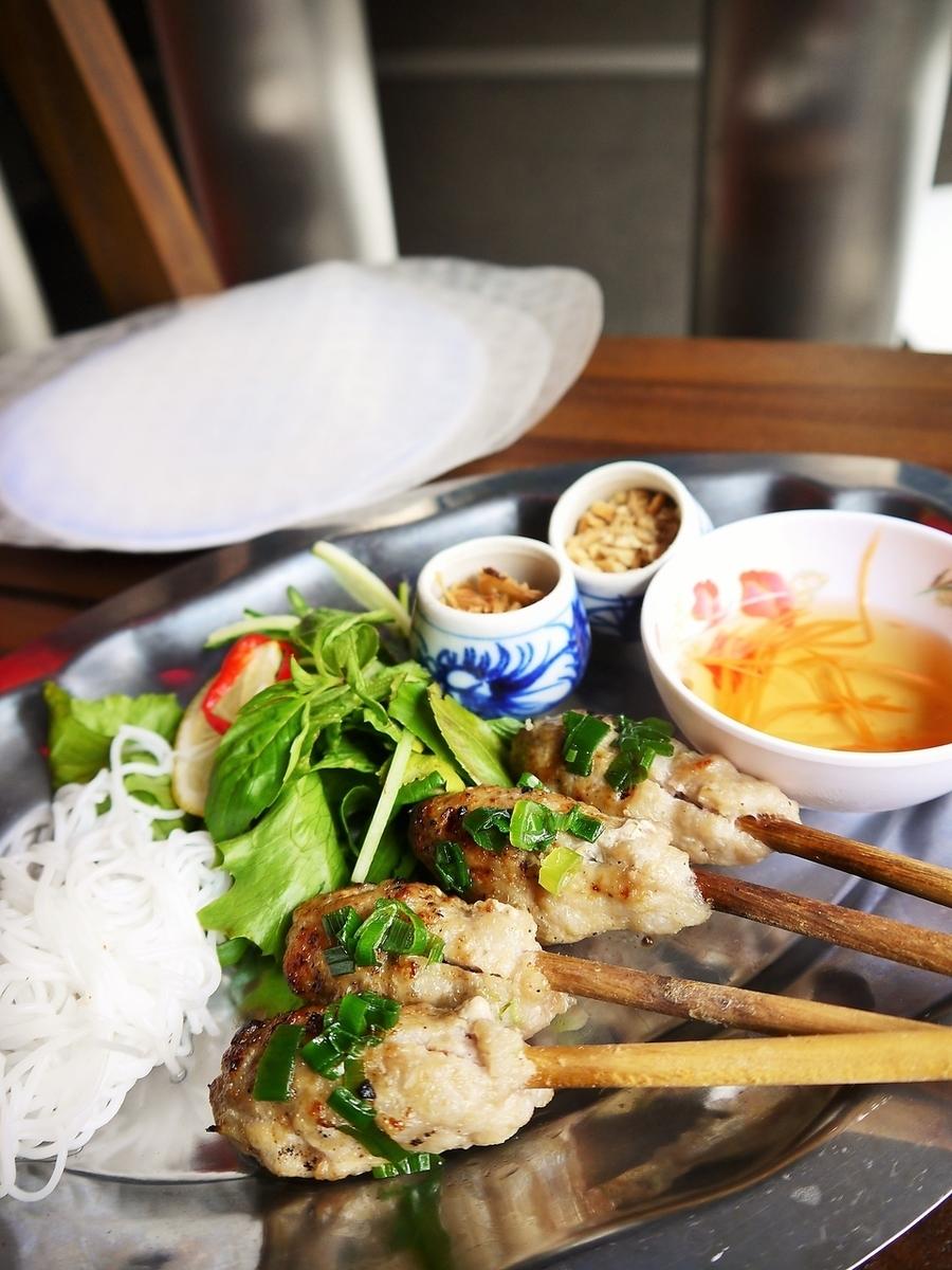 肉丸烤越南摊位 - 宣纸绕组〜