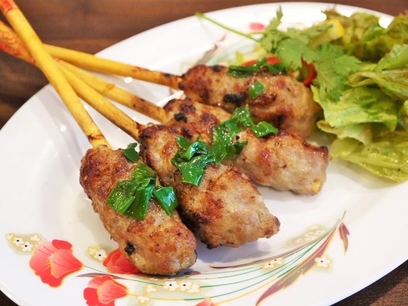 肉丸烤越南摊位