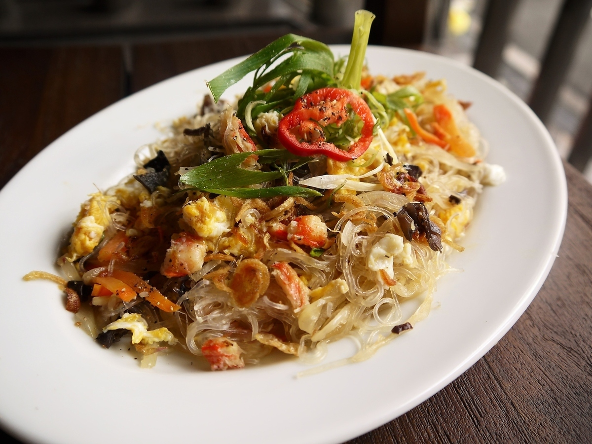 Fried vermicelli crab