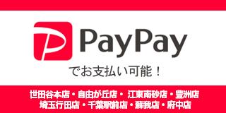 PayPayでお支払い可能!