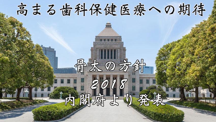 高まる歯科保健医療への期待。骨太の方針2018が内閣府より発表の画像です