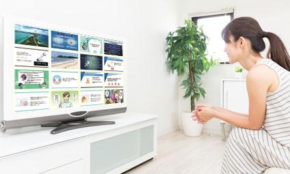 待合室のテレビ 活用できていますか?の画像です