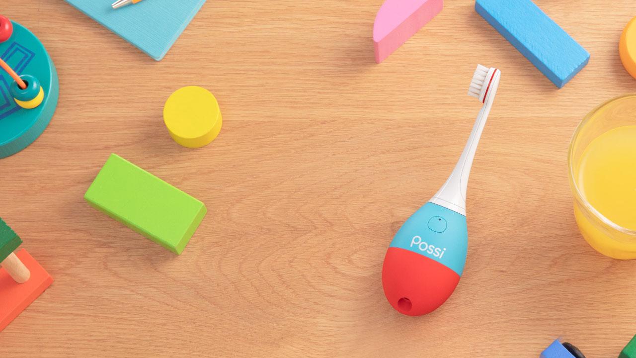 子ども向け仕上げ磨き専用ハブラシ「Possi(ポッシ)」、京セラ・ライオン・ソニーで開発の画像です