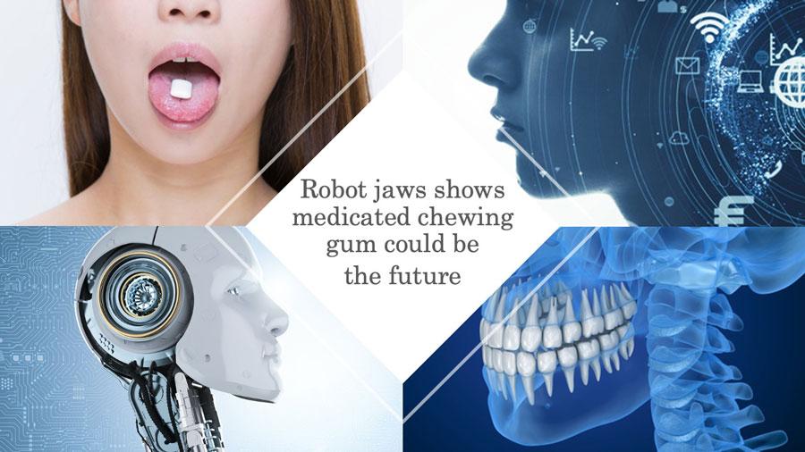 咀嚼ロボットによる医薬ガムの効果研究 英国の画像です