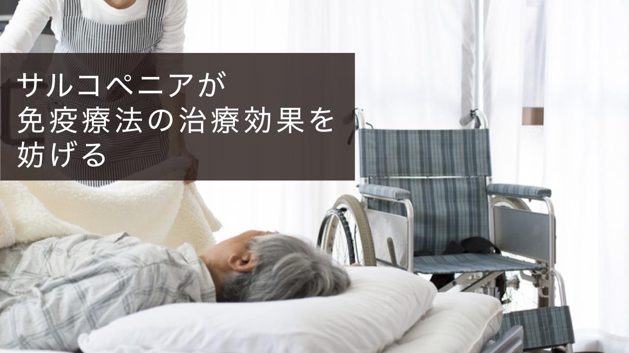 サルコペニアが免疫療法の治療効果を妨げる 京都府立医大の画像です