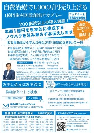 自費治療で1,000万円売り上げる1億円歯科医院創出アカデミーの画像です