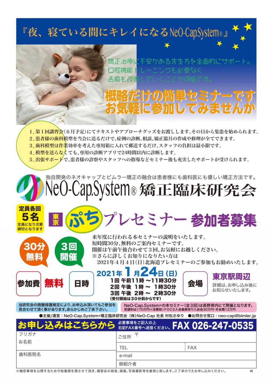 NeO-Cap.System®東京ぷちプレセミナーの画像です