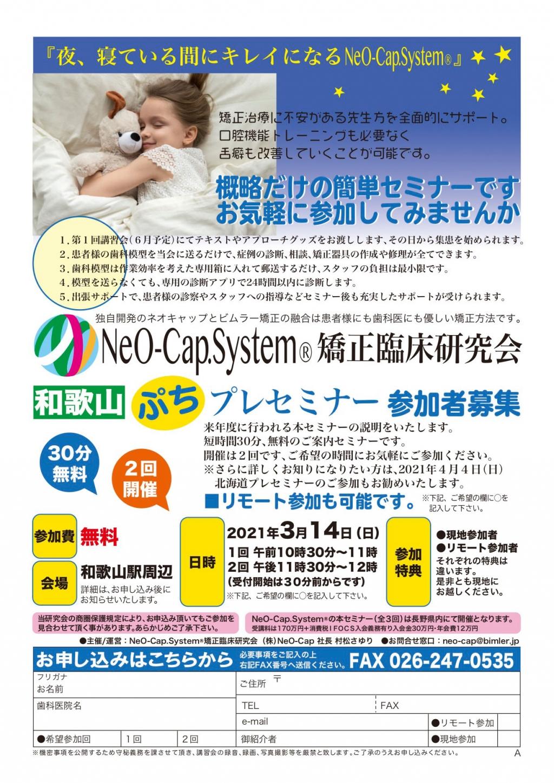 NeO-Cap.System®和歌山ぷちプレセミナーの画像です
