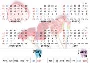 卓上カレンダー2017年5月〜木日祝休