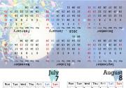 卓上カレンダー2017年7月