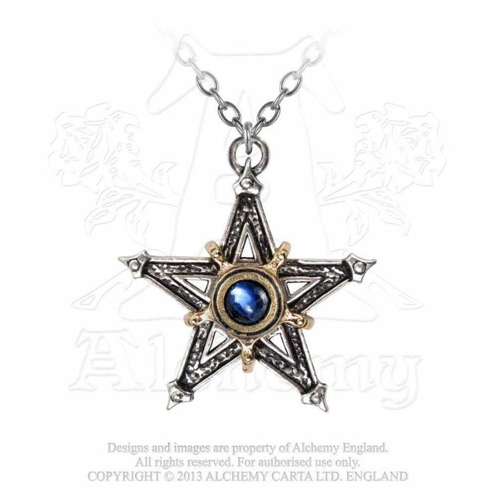 P124 中世の五芒星 ネックレス 【Medieval Pentacle】 Alchemy Gothic | アルケミーゴシック