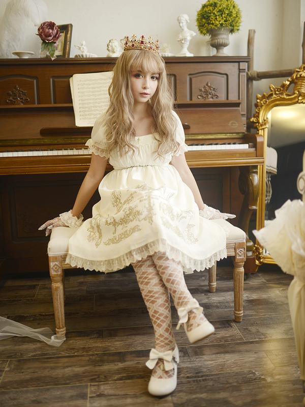 透明感あふれるお姫様のような白ロリコーデ☆