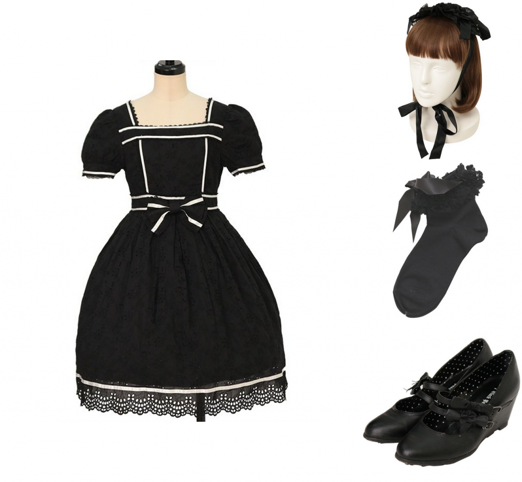 summer coord for Gothic lolita